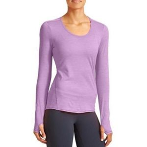 Athleta Chi Tee Workout Long Sleeve Sz Large